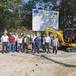 Днес бе направена първа копка на проектза частична рехабилитация на водопроводна мрежа в 5 населени места на община Каолиново